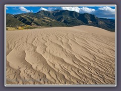 Great Sand Dunes im flachen San Luis Valley