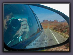 Monument Valley - Selfi 2003 - unterwegs zum Monument Valley