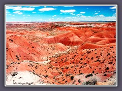 Painted Desert - rote Landschaft